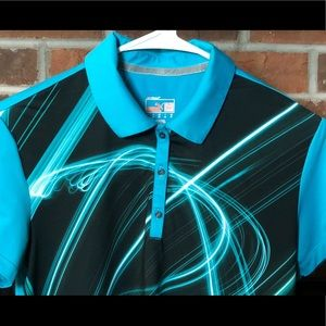 NWOT Puma Sport Lifestyle Polo Turquoise Small
